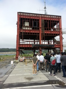 The Minamisanriku Disaster Preparedness Building makeshift memorial.