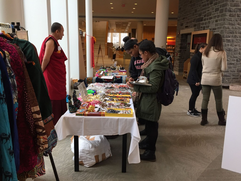 Merchandise from India and Tibet.