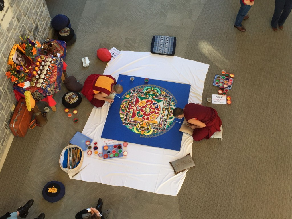 Mandala beginning to take shape.