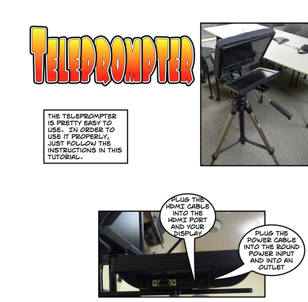 Teleprompter Tutorial