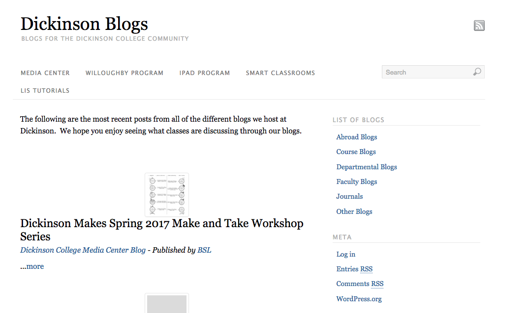 Blogs Homepage