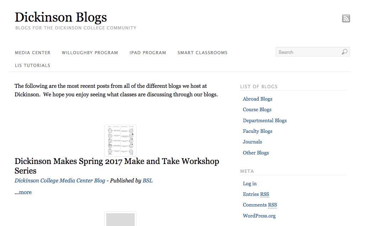Blogs Homepage