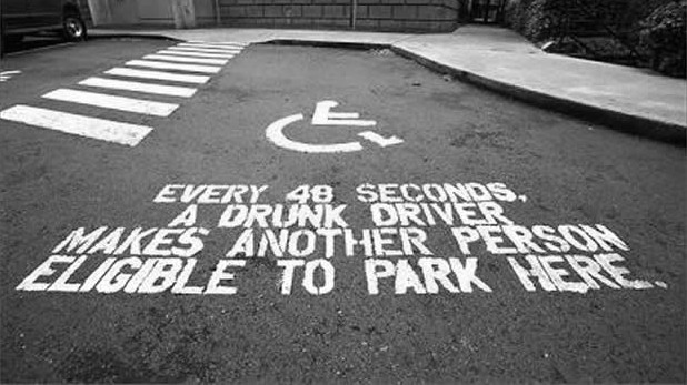 every  seconds a drunk driver makes another person eligible to park here driving quotes e