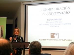 Karima, President of Asociación Marroqui, speaking about the organization