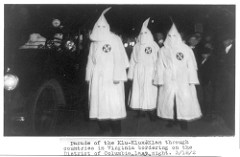 Parade of KKK members through Virginia Counties, in 1922
