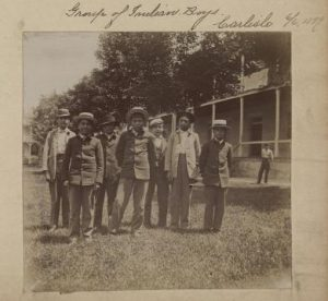 Boys at the Carlisle Indian School