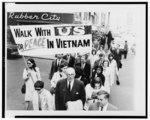Dr. Spock Leading Vietnam War Protest
