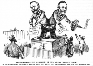 Cartoon showing Carnegie