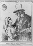 """Uncle Sam Embracing a Nurse"" Propaganda Poster"