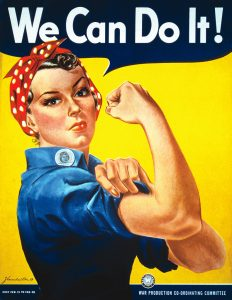 """We Can Do It"" Propaganda Poster"