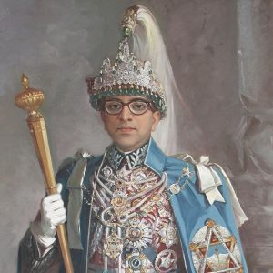 Official Portrait of King Mahendra