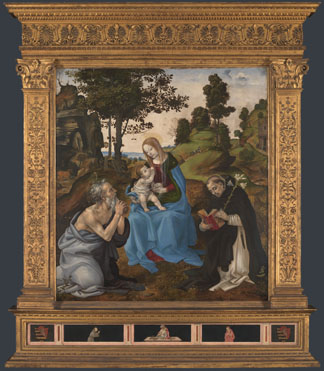 The Virgin and Child with Saints Jerome and Dominic by Fillippino Lippi - picture taken from the website of the National Gallery