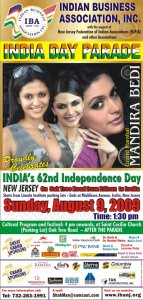Advertisement for the India Day Parade on Oak Tree Rd.