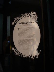 Outside the 'Telling Tales' exhibit