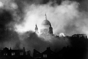 BBC image of St. Paul's in the blitz