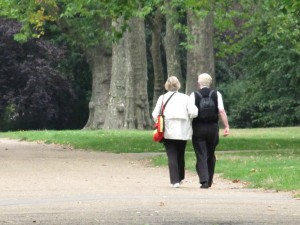 An Elderly Couple in Kensington Gardens
