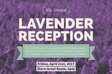 Lavender Reception: Looking Back and Stepping Forward