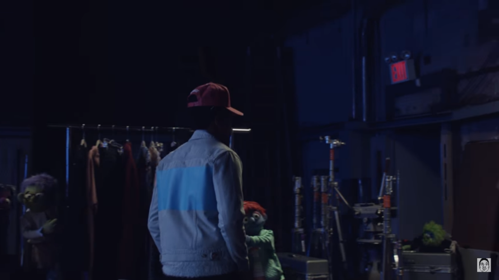 Chance walking through the studio.