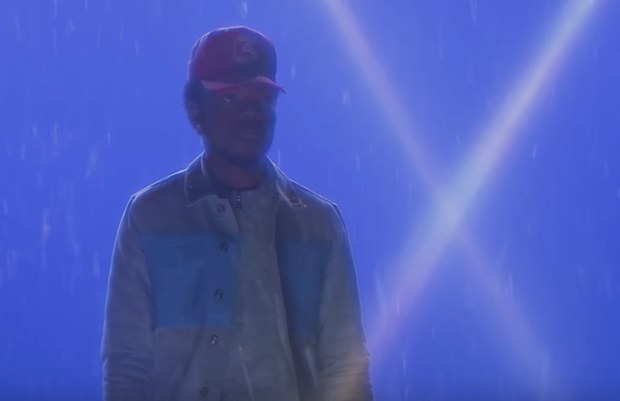 Chance standing in stars.