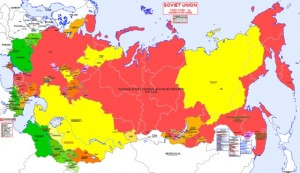 Map of the USSR portraying 1922-1928
