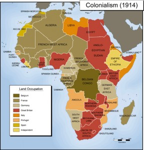 African colonies in 1914.