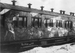A Soviet propaganda train.