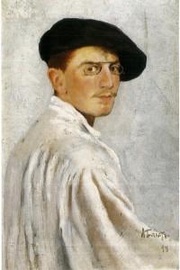 Self portrait of Leon Bakst 1893. Originally from Irina Pruzhan.