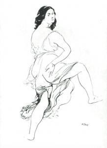 Potter: sketch of Isadora Duncan