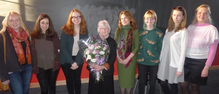 Russian majors and Professor Emerita Helen Segall