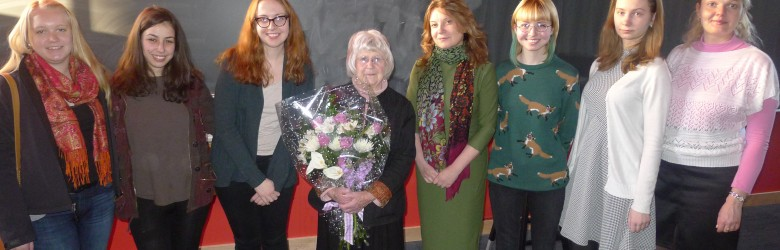 Russian majors and Professor Emerita Helen Segall