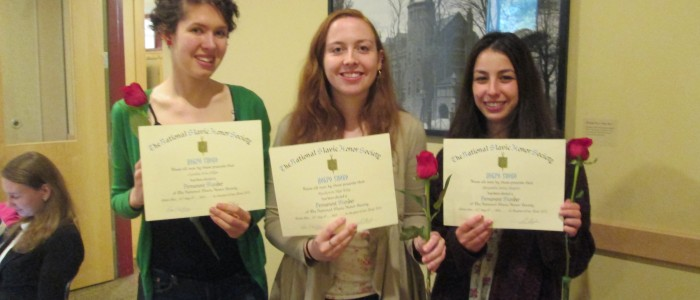 Three seniors get inducted into Dobro Slovo Honor Society