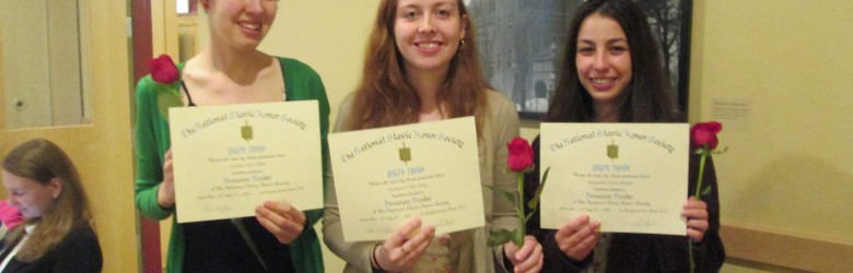 Three seniors get inducted into Dobro Slovo Honor Society