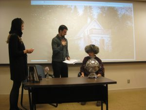 Student's in Prof. Duzs' Russian 232 act out Chekhov's play, The Bear