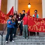Russian Club Students Reenact the October Revolution at Bosler Hall