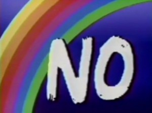 Esta foto es un símbolo verdadero de la campaña «no» a los fines de los años 80.
