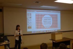 Spanish Major, Delphine Dall'Agata presents her research