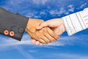 238 business-handshake-on-sky-background