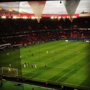 PSG vs TFC dans le Parc des Princes. Photo de Mira Hanfling.