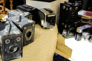 Vintage cameras, also at the François Verdier antique market ! Photo by Genevieve Pecsok.