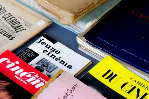 Books about cinema at the François Verdier antique market. Photo by Genevieve Pecsok.