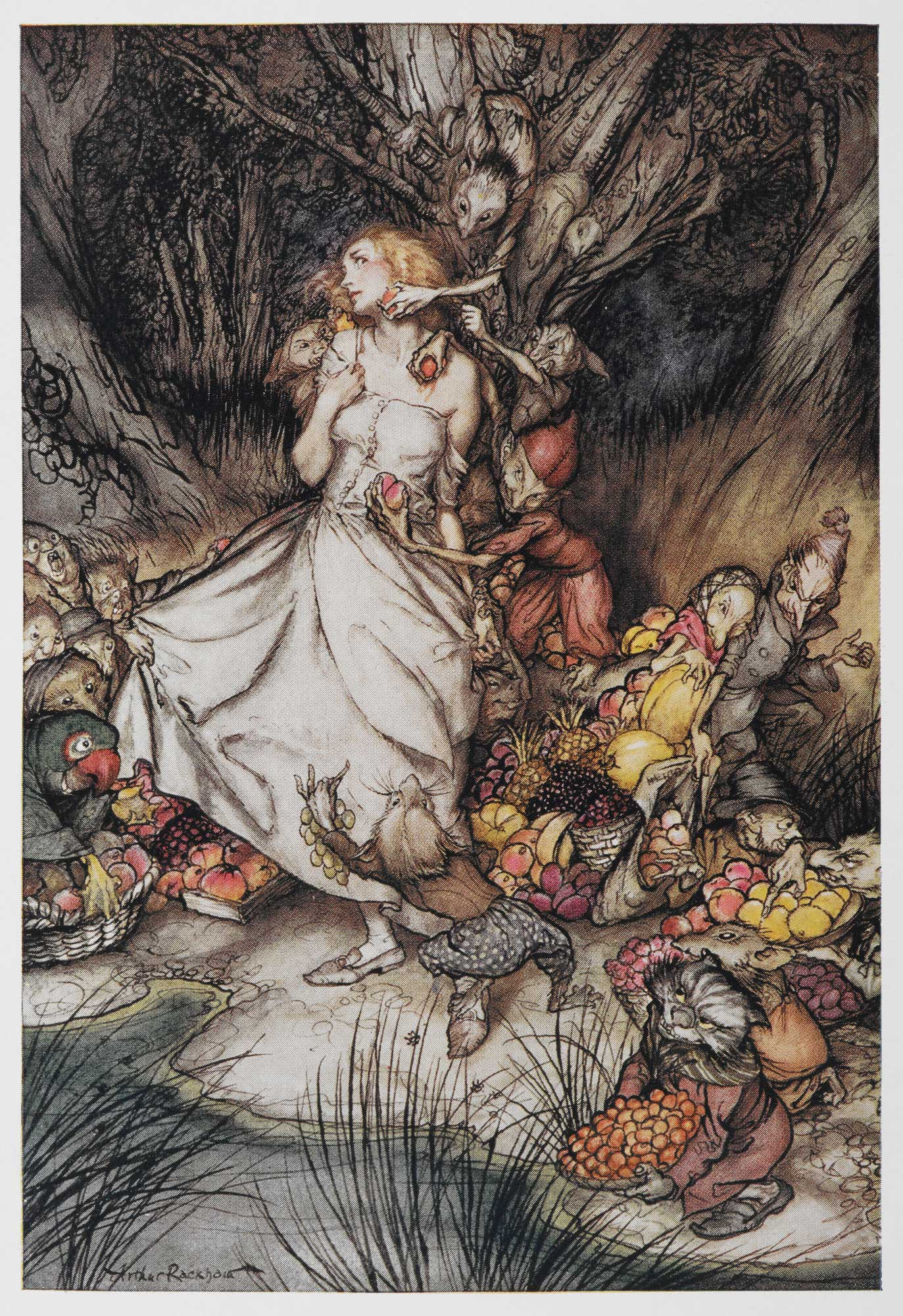 """The Goblin Market"" (1933) by Arthur Rackham"