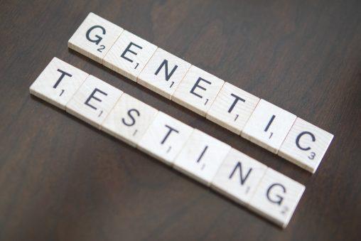 genetic testing spelled in scrabble letters
