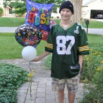 Charlie on his last day of chemo.