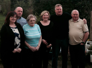 Dad with his Mum and half siblings in London, Spring 2014.
